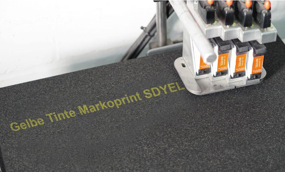 Stralende gele inkjet inkt voor gladde oppervlakken: Markoprint SDYEL