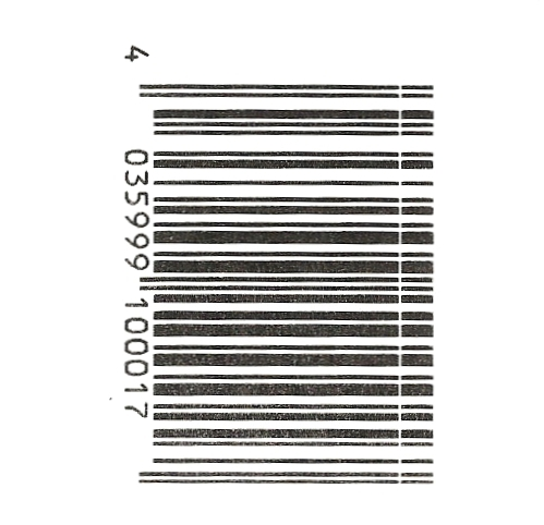 Ladder barcode with white line
