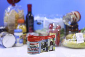 boekjesetiketten voor voedingsproducten