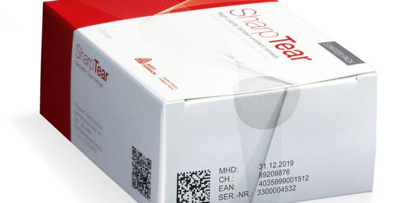 drugspakketten met tamper evident etiketten