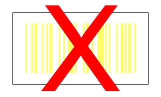 Barcode gelb auf weiß