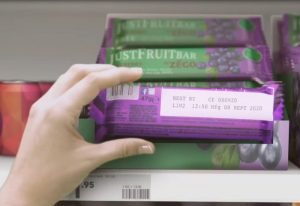 food-grade inkjetmarkering op chocoladereep