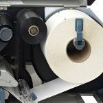 Etikettendrucker von innen