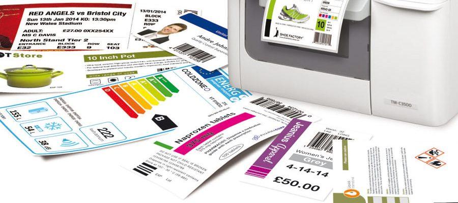 kleuren etiketten afdrukken